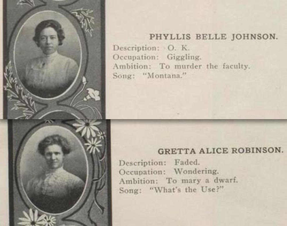 Yearbook Quotes from Women in 1911 Are Life Goals